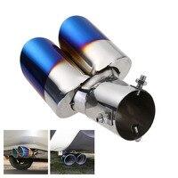 Tubo de escape duplo de aço inoxidável tubo de escape silenciador da cauda durável útil prático acessórios populares alta qualidade
