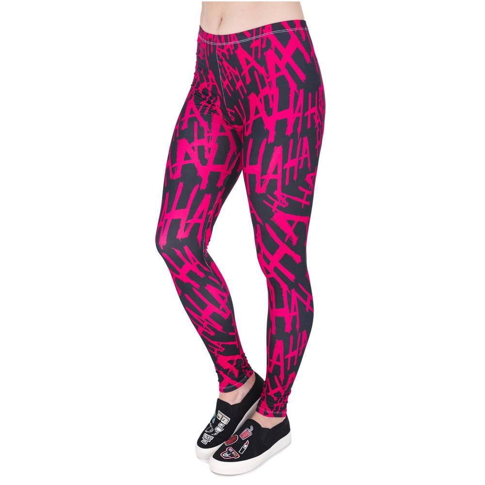 High Quality Women Legins Hahaha 3D Printing Funny Legging Woman Fashion Casual Leggings