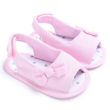 Summer Baby Girl Bowknot Sandals Newborn Infant Casual Outdoor Princess  Casual Shoes Sneaker Anti-slip Soft Sole 0~18 Month