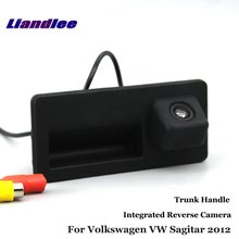 Liandlee Car Rearview Reverse Camera For Volkswagen VW Sagitar 2012 Backup Parking Rear View / Trunk Handle Integrated