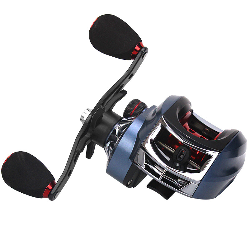 1Pcs Metal Baitcast Reel High Speed 7.2:1 Fishing Long Cast Bait Casting Reels Magnetic Brake Smooth Multi Bearing Black/Blue