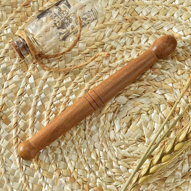 1 piezas de madera de pie masajeador corporal palo aliviar el dolor muscular relajación herramientas acupuntura reflexología masajeador