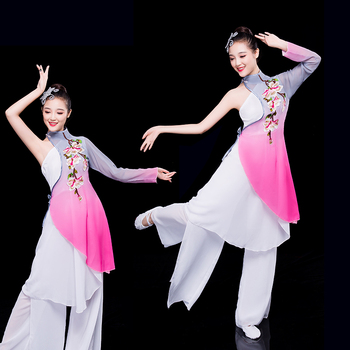 Chinese style folk ladies classical dance stage costumes chinese costume hanfu