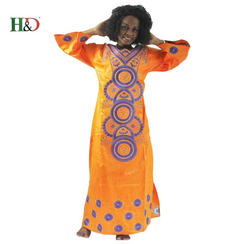 H&D modni vez Afrički ženska haljina Bazin Riche 100% pamuk dugi - Nacionalna odjeća - Foto 2