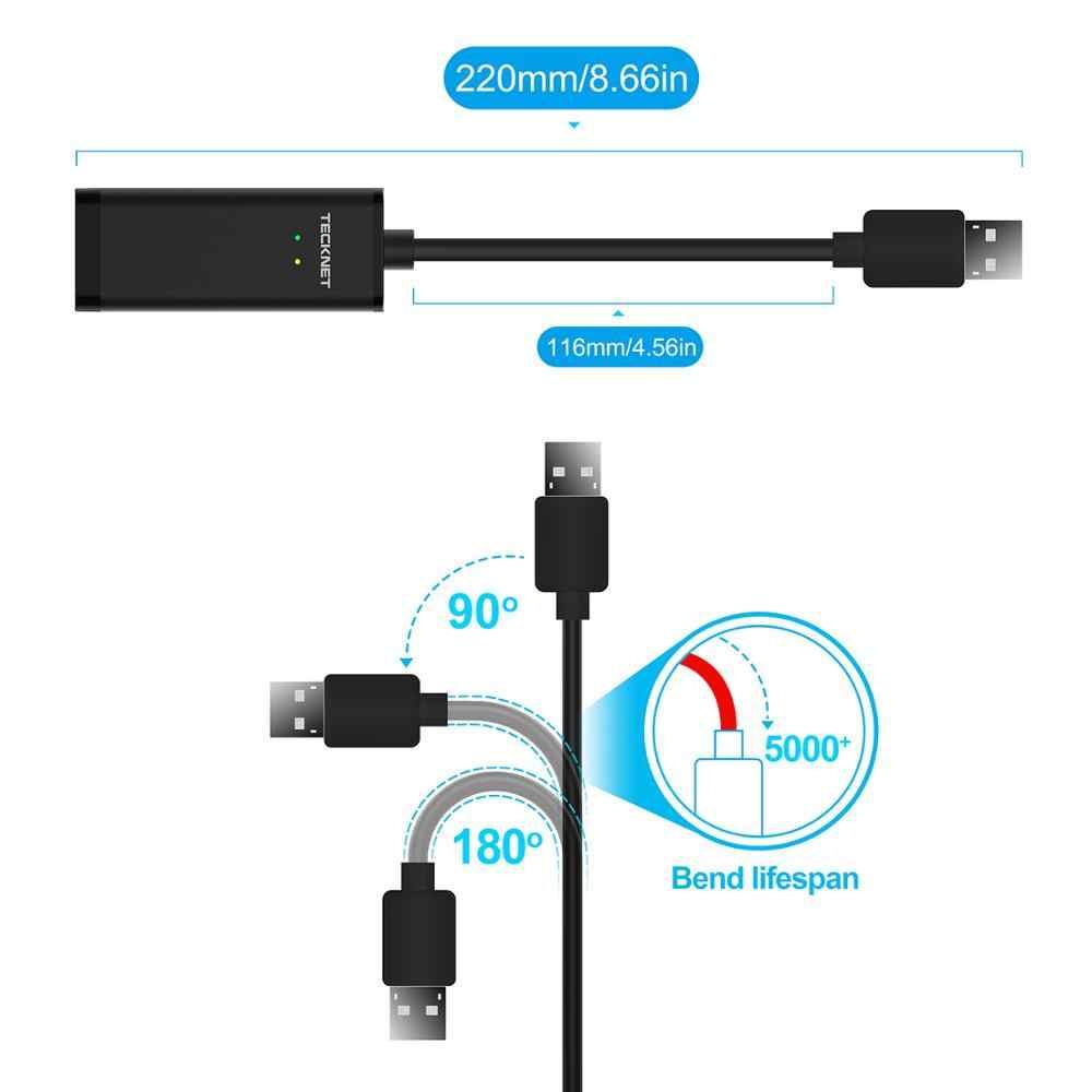 Tecknet USB Ethernet Adapter USB 3.0 Mạng Để RJ45 Lan Dành Cho Windows 10 Tiểu Mi Mi Hộp 3 Nintend chuyển Đổi Ethernet USB