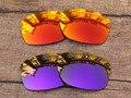 Огненно-Красный и Фиолетовый 2 Пар Зеркало Поляризованных Сменные Линзы Для Юпитера Squared Солнцезащитные Очки Рама 100% UVA и UVB Защиты