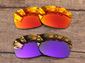 Fire Red & Purple 2 Pairs Mirror Polarized Replacement Lenses For Jupiter Squared Sunglasses Frame 100% UVA & UVB Protection