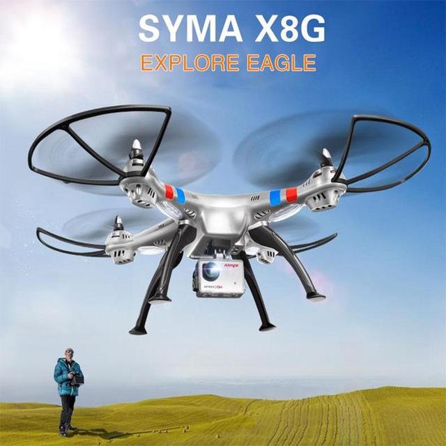 Новый Сыма X8G 2.4 Г 4.5CH 6 Оси Безголовый Режим RC Quadcopter С 8.0MP Камеры США/ЕС Plug Батареи высокое Качество Рождественский Подарок