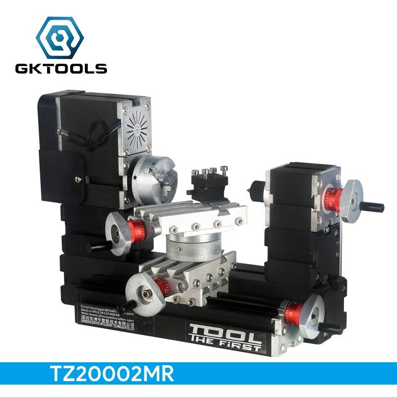 TZ20002MR bricolage BigPower Mini tour rotatif en métal, moteur 60 W 12000r/min, éducation standardisée pour enfants, meilleur cadeau