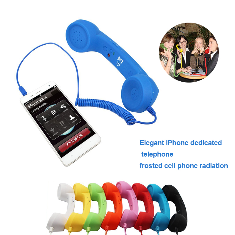 New Arrival Classic retro 3.5 mm Comfort telephone Handset Mini Mic Speaker Phone Call Receiver For Iphone Samsung Huawei(China)