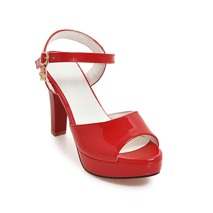 43 Peep Boda Plataforma Tamaño verde rojo Mujeres Sandalia Cuero Tacón Zapatos Ldhzxc 34 Pu Alto Slingback blanco Señoras rosado Negro Toe 2018 XOxq8BwBa