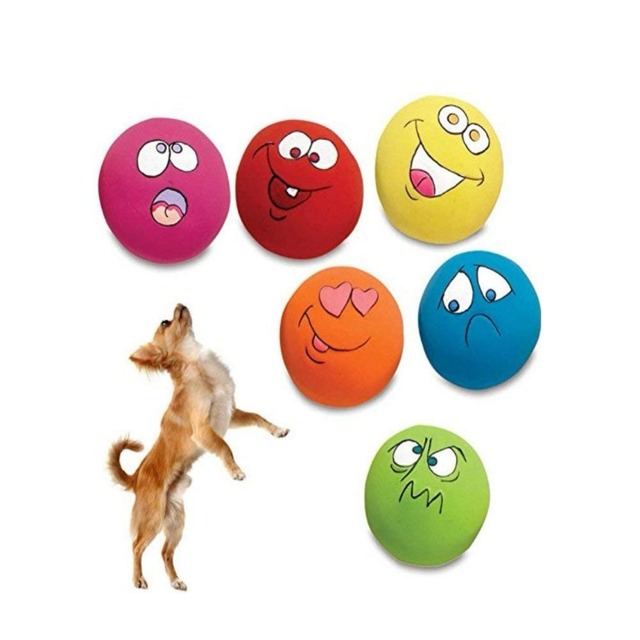 Squeaky Pet Toys For Cat Dog Teeth Squeaker Ball Puppy Squeaky Sound