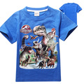 t-shirt boys dinosaur 2017 summer children costume T shirts jurassic park clothing kids tee shirt branded clothing for children
