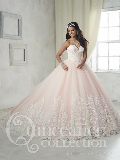2017 Nuevo Pink Tulle Appliques vestido de Bola Vestidos de Quinceañera para 15 Años Moldeada Barata del Vestido de La Mascarada Vestidos de 15 Anos QX66