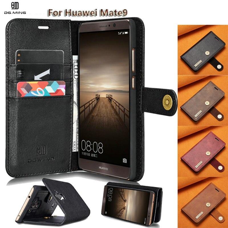DG. ming для Huawei mate9 случае Роскошные Пояса из натуральной кожи Съемная Магнитная Флип Ретро Бумажник чехол для mate9 чехол 2 in1 Coque