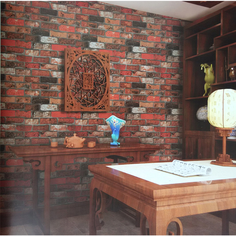 Brick Stone Wall Paper Chinese Rustic Vintage 3D Stereo PVC Photo Wallpapers Roll Living Room Bedroom Home Decor Papel De Parede well known brand leozoe pure castor oil certificate origin us authentication high quality castor essential oil 30ml100ml