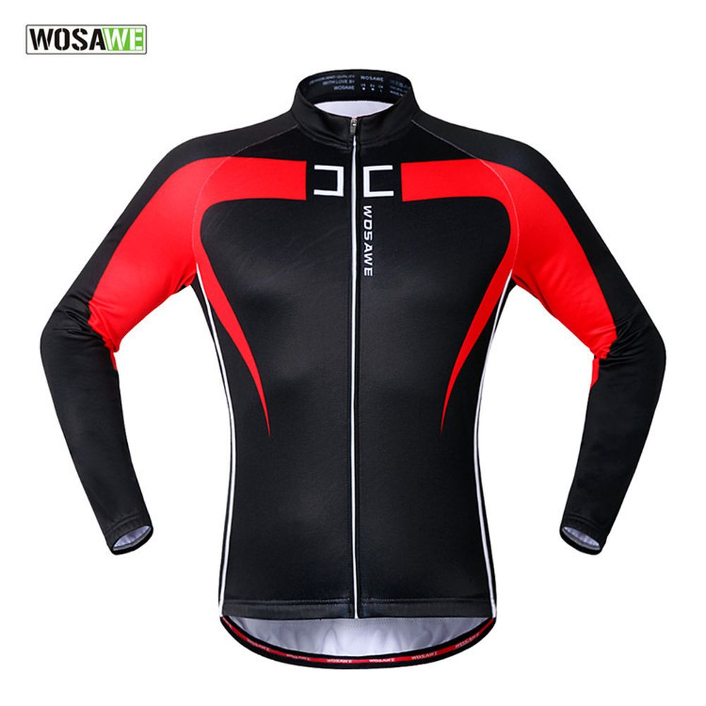 Windproof Waterproof Cycling Jacket Night Riding Running Long Sleeve Jersey