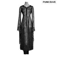 Готическое облегающее черное платье с длинным рукавом длиной до пола для Хэллоуина, рождественского праздника, паутина, кружевное платье п