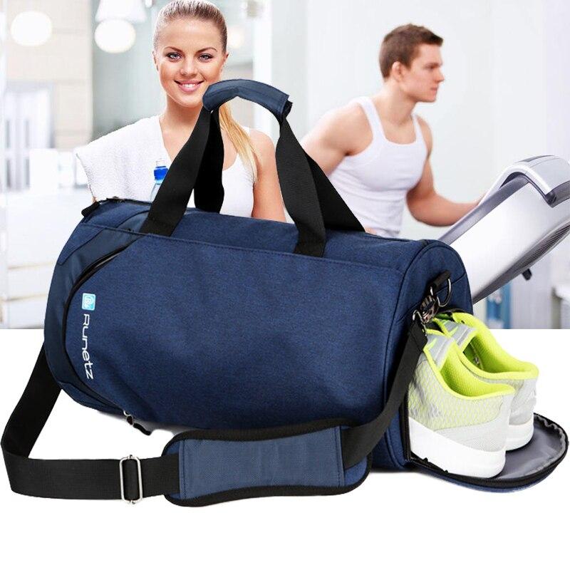 Sacs de sport imperméables hommes grand sac de sport avec compartiment à chaussures 2019 sac de fitness femme yoga sac de voyage en plein air sac de bagages à main-in Gym Sacs from Sports et Loisirs    2