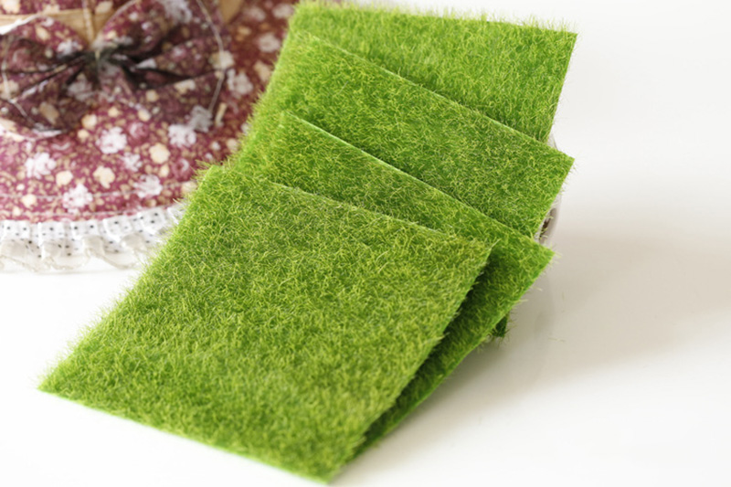Flone Artificial PVC Grass Lawn False Moss Fake Turf Micro Landscape Decoration Accessories Home Living Room Decoration (3)