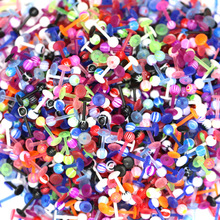 5pcs UV Mixed-color Acrylic Lip Nail Cartilage Earrings Labret Random