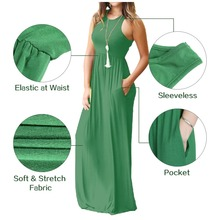 Summer Casual Pocket Long Dresses