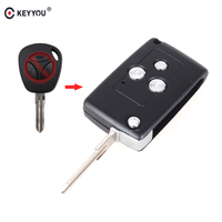 KEYYOU 1/Lots Replacement Modified Flip Folding Car Remote Key Shell For Lada Kalina Granta 3 Buttons Auto Key Case Fob Cover