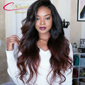 Glueless Lace Front Wigs Ombre Two Tone Human Hair Brazilian Virgin Ombre Hair Full Lace Wigs For Black Women With Baby Hair
