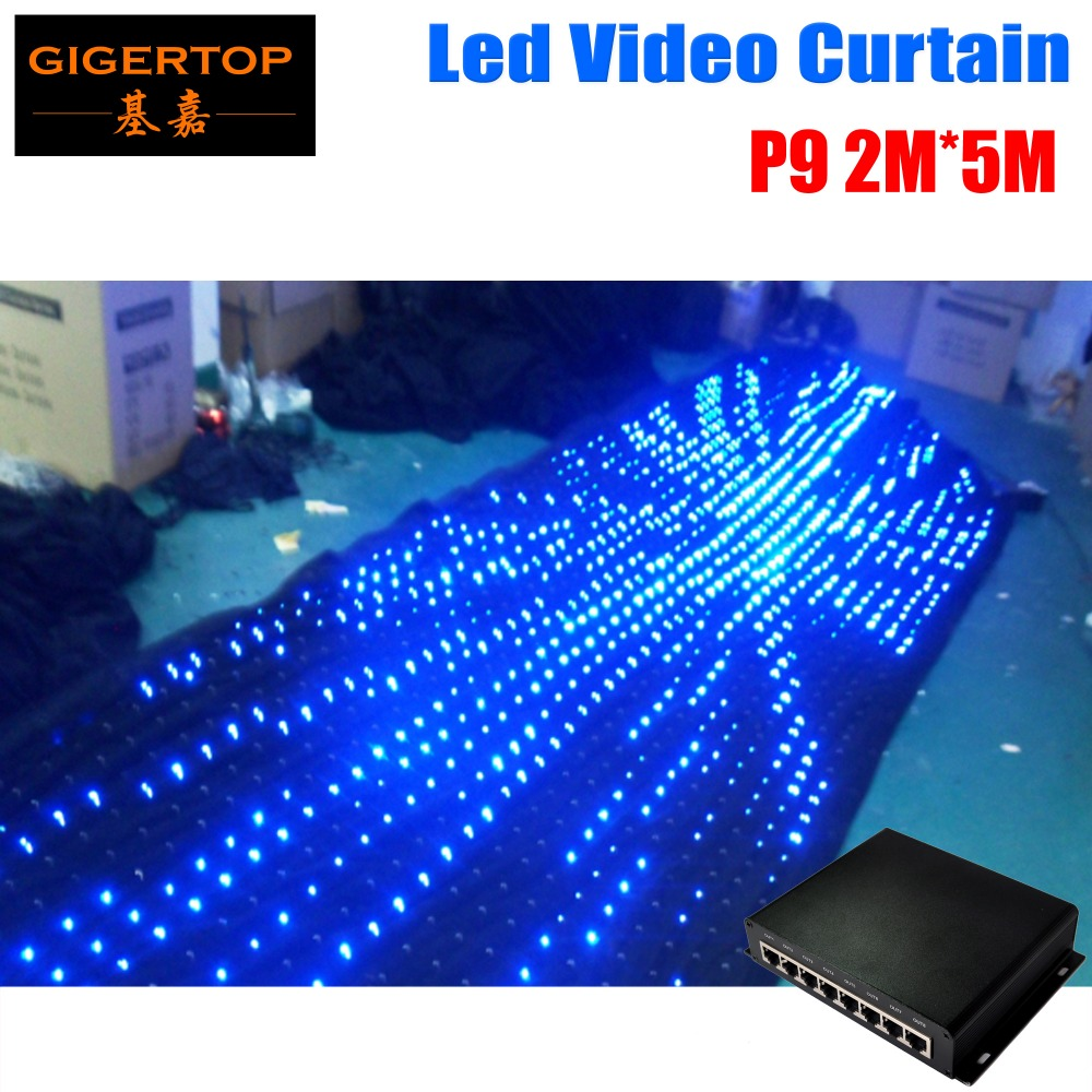 P9 2M*5M LED Video Curtain PC Mode Controller For Wedding Backdrop,1210Pcs Led P9 Led Graphic Curtain 90V-240V Led BackdropsP9 2M*5M LED Video Curtain PC Mode Controller For Wedding Backdrop,1210Pcs Led P9 Led Graphic Curtain 90V-240V Led Backdrops