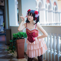 Nico Yazawa Cosplay Lovelive / Love Live School Idol Project Wedding Dress Unawakened Pink White Uwowo Costume