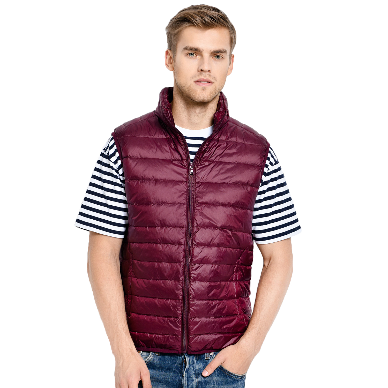 Image 2 - 2019 New Arrival Brand Men Sleeveless Jacket Winter Ultralight White Duck Down Vest Male Slim Vest Mens Windproof Warm Waistcoat-in Vests & Waistcoats from Men's Clothing