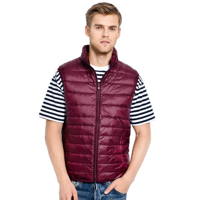 8e473b67b59 placeholder Новое поступление 2019 года бренд для мужчин куртка без рукавов  Зима Сверхлегкий белая утка подпушка мужской