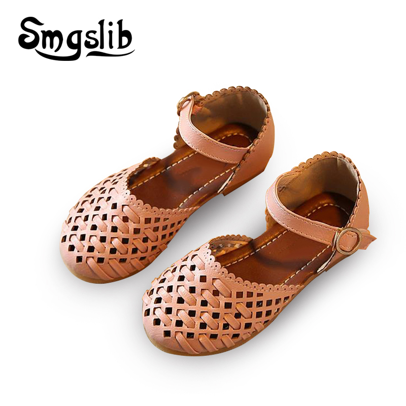 Girls sandals Summer toddler gladiator sandals flat shoes ...