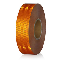 45Mx5Cm Orange Reflective Warning Tape Adhesive Car Truck Conspicuity Tape Car Accessories