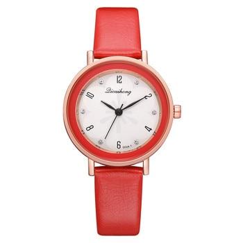 Red Watch Women Quartz Watches Ladies Top Brand Luxury Female Wrist Watch Leather Watchband Girl Clock Relogio Feminino Наручные часы