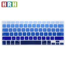 HRH Wholesale 100pcs English  Rainbow Silicone Keyboard Cover Keypad Skin Protector for Macbook Air Pro Retina 13 15 USA Version