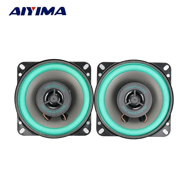 AIYIMA 2 Pc 4 Zoll Koaxial Vollständige Palette Auto Audio Musik Lautsprecher 40 W 4 Ohm High Power Bass Lautsprecher DIY Für Sound System