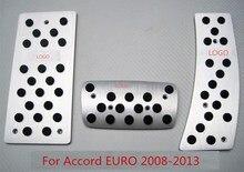 Antideslizante car styling accesorios de aleación de aluminio en pedales fit para honda Accord 2008-2013 EURO CU3 CU1 $ number um CU4 CW1 CW2 CW3 CW4