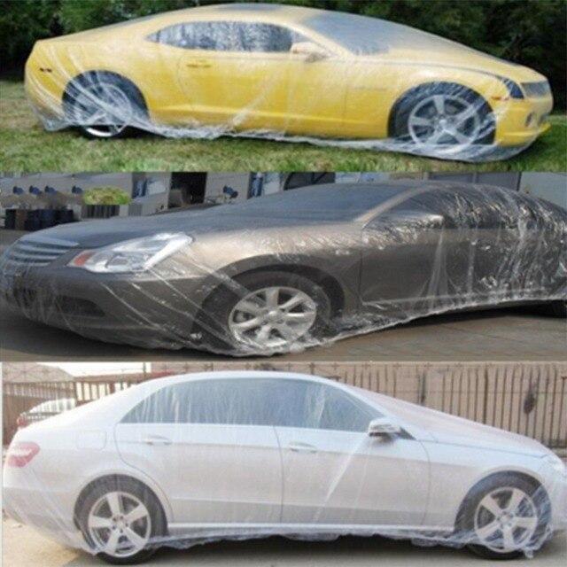 2pcs 6.6*3.8M Transparent Car Cover Large Snow Rain Protective Universal Dustcoat