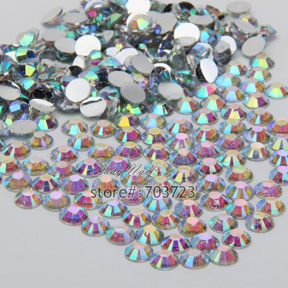 Detail Feedback Questions about 1000 pcs 3mm ss12 AB Colorful Crystal Resin  Round Rhinestone Flatback Rhinestones 14 Facets DIY Nail Art Decoration  Beads ... 4f6e2348817e
