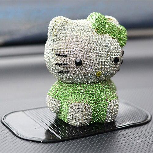 Beauty4car Berlian Parfum Kursi Mobil Hello Kitty Hijau Yang Indah