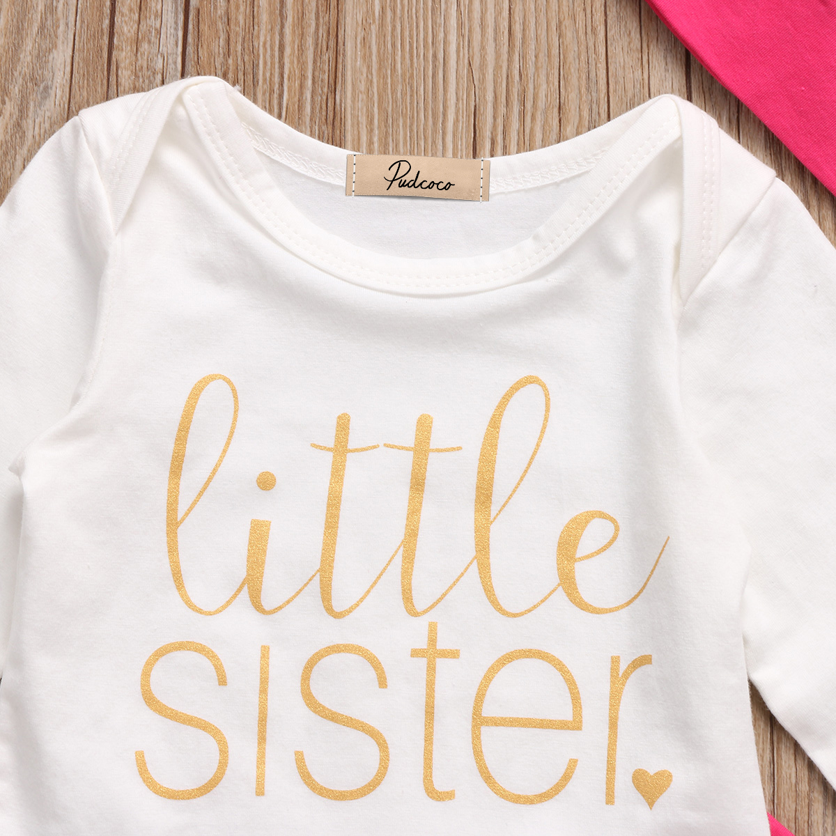 PUDCOCO Brand Clothes Set Cute Newborn Baby Girls Cotton Fashion Tops Romper Pants Hat 3Pcs Outfits Set Clothes 0-18M