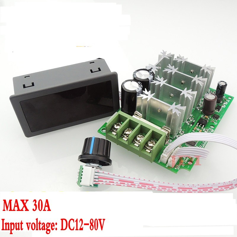 Arsmundi 1pc Universal Dc10-60v Pwm Hho Rc Motor Speed Regulator Controller Switch 20a Integrated Circuits Active Components
