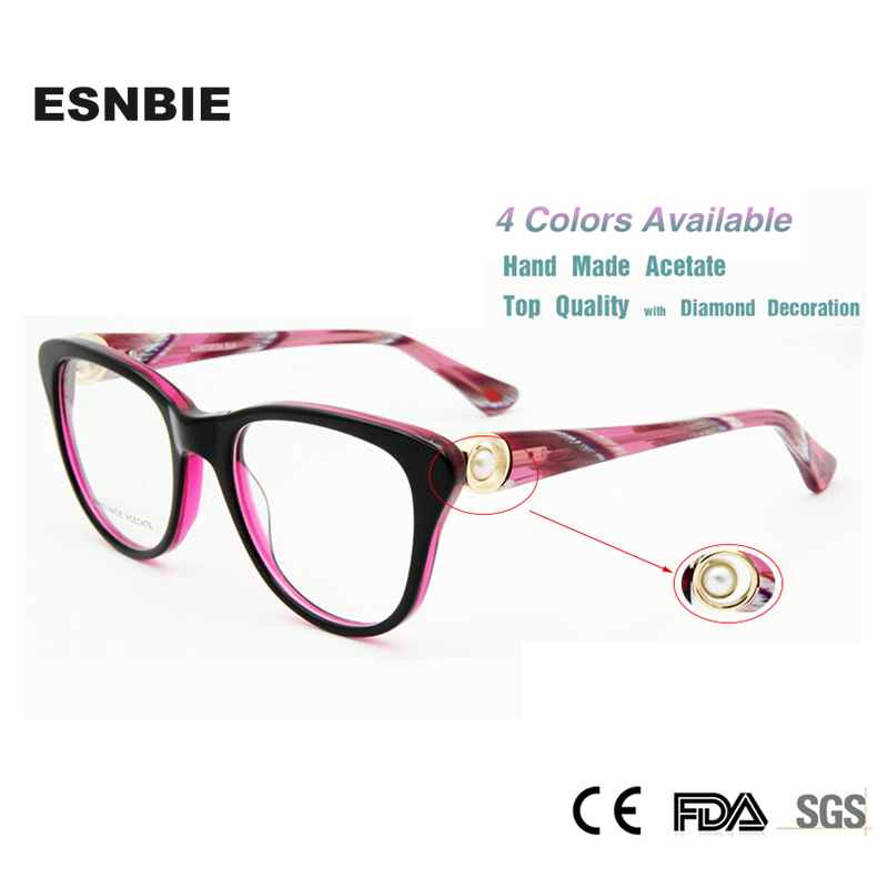 ESNBIE armacao de oculos Wanita Merek Desain Baru di London Berlian  Kacamata Mewah Kacamata Resep c4450bc6a6