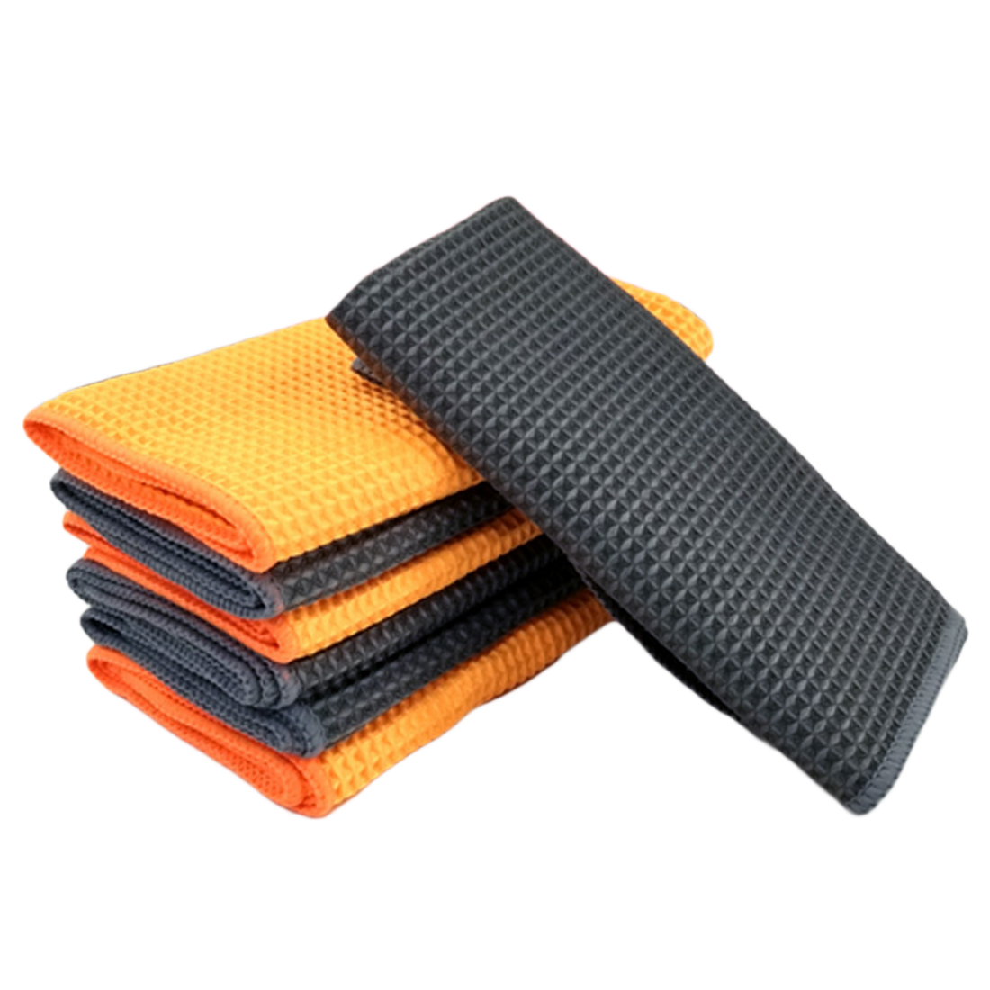 Interior Accessories Car Wash Towel Glass Cleaning Wax Polishing Detailing Waffle Weave Towel Car Cleaning Microfiber Cloth Kitchen Cleaner 40x40cm