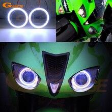 Для Kawasaki Ninja ZX-6R 2007 2008 отличное ангельские глазки Ультра яркое освещение COB комплект светодиодов «глаза ангела» halo ring