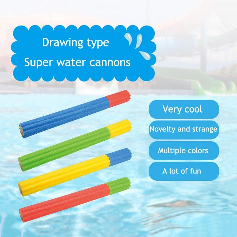 Популярный стиль мягкая тара для воды из материала EVA Пистолет Бластер шутер супер пушка игрушка для бассейна для детей Водяные Пистолеты водяная стрелялка летние игрушки для бассейна
