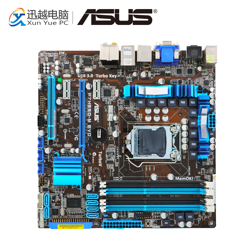 Asus P7H55D-M EVO Desktop Motherboard H55 Socket LGA 1156 i3 i5 i7 DDR3 16G USB3.0 uATX On Sale