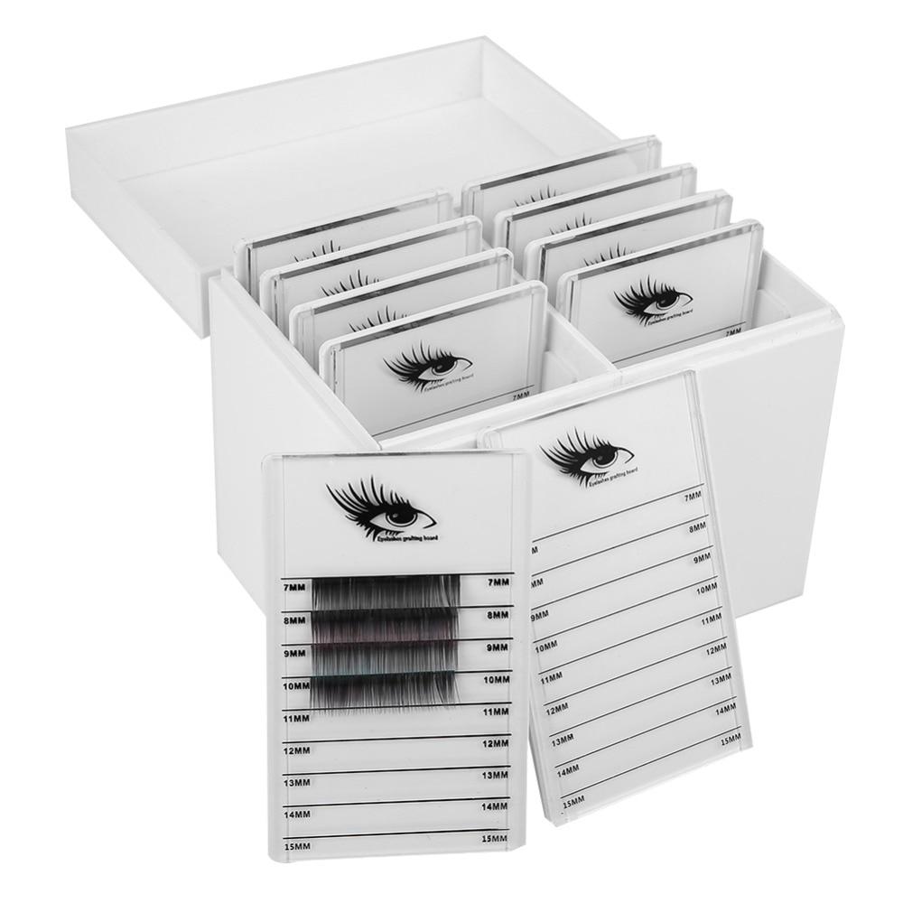 10 Layers Eyelash Extension Storage Box False Eyelash Makeup Organizer Cosmetic Eyelashes Display Holder Case Tool Kit DIY black professional makeup cosmetic storage train case box trays aluminum organizer artist hiker draws