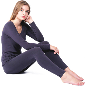 Image 3 - YOOY Brand 2018 New Winter Thermal Underwear Women Elastic Breathable Female U neck Casual Warm Long Johns Sets